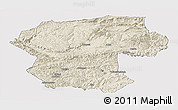 Shaded Relief Panoramic Map of Bamian, cropped outside