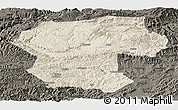 Shaded Relief Panoramic Map of Bamian, darken