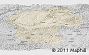 Shaded Relief Panoramic Map of Bamian, desaturated