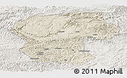Shaded Relief Panoramic Map of Bamian, lighten