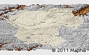 Shaded Relief Panoramic Map of Bamian, physical outside