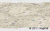 Shaded Relief Panoramic Map of Bamian