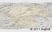 Shaded Relief Panoramic Map of Bamian, semi-desaturated