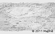 Silver Style Panoramic Map of Bamian