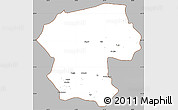 Gray Simple Map of Bamian, cropped outside