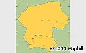 Savanna Style Simple Map of Bamian, cropped outside
