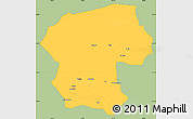 Savanna Style Simple Map of Bamian, single color outside