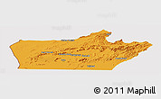 Political Panoramic Map of Farah, cropped outside