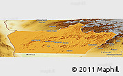Political Panoramic Map of Farah, physical outside