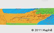 Political Panoramic Map of Farah