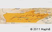 Political Panoramic Map of Farah, satellite outside
