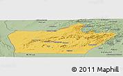Savanna Style Panoramic Map of Farah