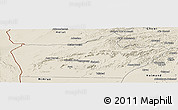 Shaded Relief Panoramic Map of Farah