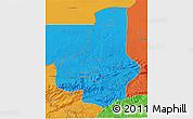 Political 3D Map of Faryab