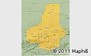 Savanna Style 3D Map of Faryab