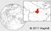 Blank Location Map of Faryab