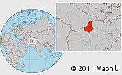Gray Location Map of Faryab