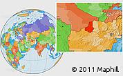 Political Location Map of Faryab