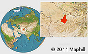 Satellite Location Map of Faryab