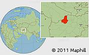 Savanna Style Location Map of Faryab