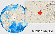 Shaded Relief Location Map of Faryab