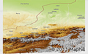 Physical Panoramic Map of Faryab