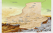 Satellite Panoramic Map of Faryab, physical outside
