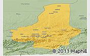 Savanna Style Panoramic Map of Faryab