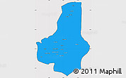 Political Simple Map of Faryab, cropped outside
