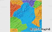 Political 3D Map of Ghazn