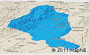 Political Panoramic Map of Ghazn, shaded relief outside
