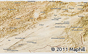 Satellite Panoramic Map of Ghazn