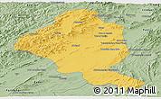 Savanna Style Panoramic Map of Ghazn