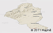 Shaded Relief Panoramic Map of Ghazn, cropped outside