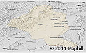 Shaded Relief Panoramic Map of Ghazn, desaturated