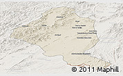 Shaded Relief Panoramic Map of Ghazn, lighten