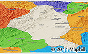 Shaded Relief Panoramic Map of Ghazn, political outside