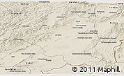 Shaded Relief Panoramic Map of Ghazn
