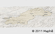 Shaded Relief Panoramic Map of Ghowr, lighten