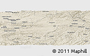 Shaded Relief Panoramic Map of Ghowr