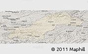 Shaded Relief Panoramic Map of Ghowr, semi-desaturated