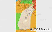 Satellite 3D Map of Helmand, political outside