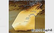 Physical Panoramic Map of Helmand, darken