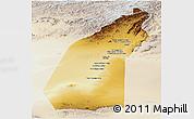 Physical Panoramic Map of Helmand, lighten