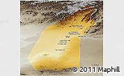 Physical Panoramic Map of Helmand, semi-desaturated