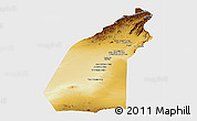 Physical Panoramic Map of Helmand, single color outside