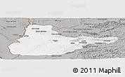 Gray Panoramic Map of Herat