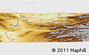 Physical Panoramic Map of Herat