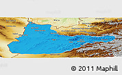 Political Panoramic Map of Herat, physical outside