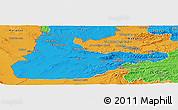 Political Panoramic Map of Herat
